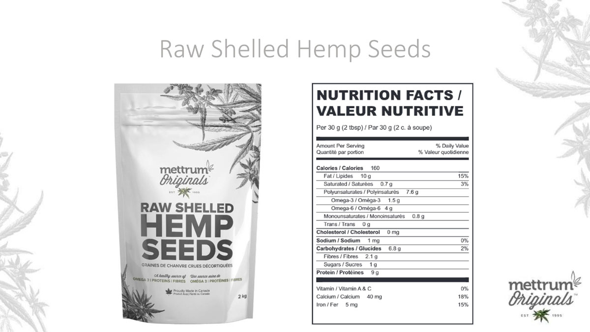 Mettrum Originals - Raw Shelled Hemp Seeds