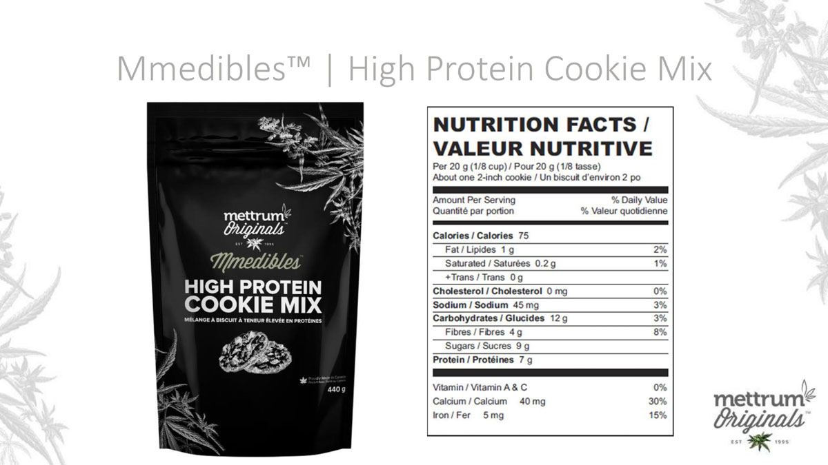 Mettrum Originals - Mmedibles - High Protein Cookie Mix