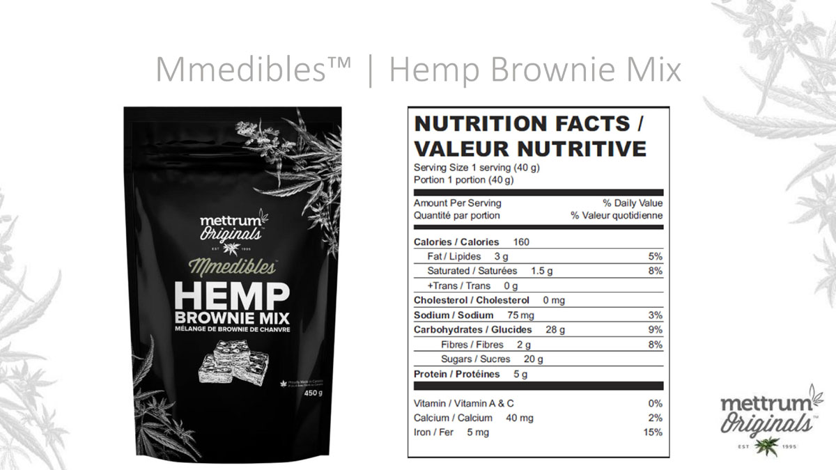 Mettrum Originals - Mmedibles - Hemp Brownie Mix