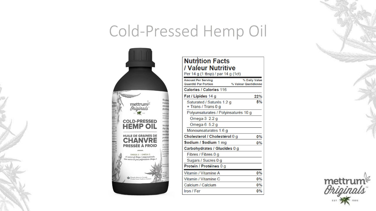 Mettrum Originals - Cold Pressed Hemp Oil