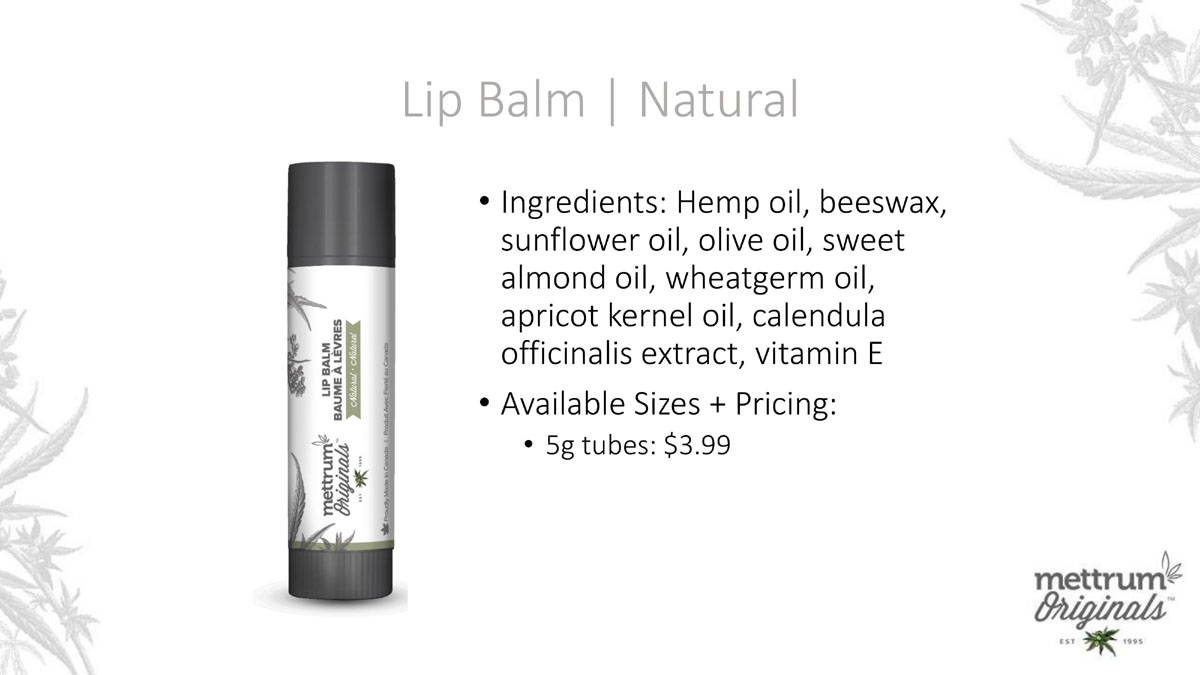 Mettrum Originals - Lip Balm - Natural