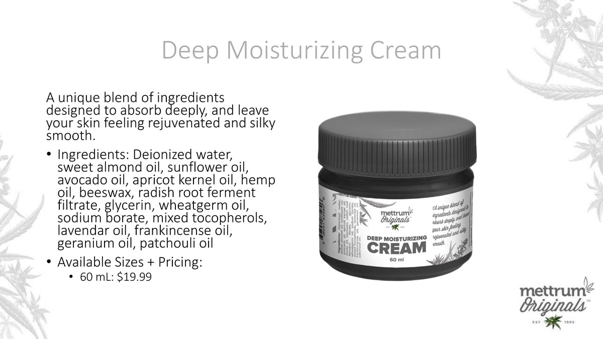 Mettrum Originals - Deep Moisturizing Cream