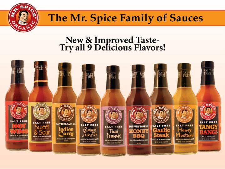 Mr. Spice Organic - Family of Sauces