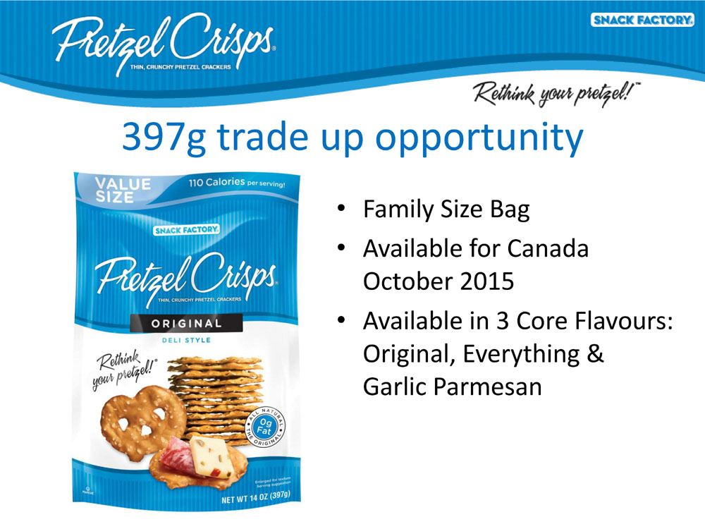 Pretzel Crisps - Family Size Bag