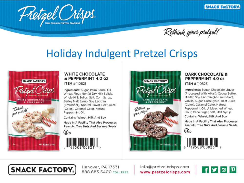 Pretzel Crisps - Holiday Indulgent