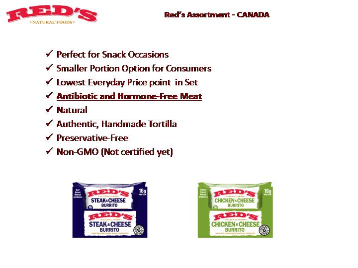 Red's All Natural Foods - Red's Assortment Canada