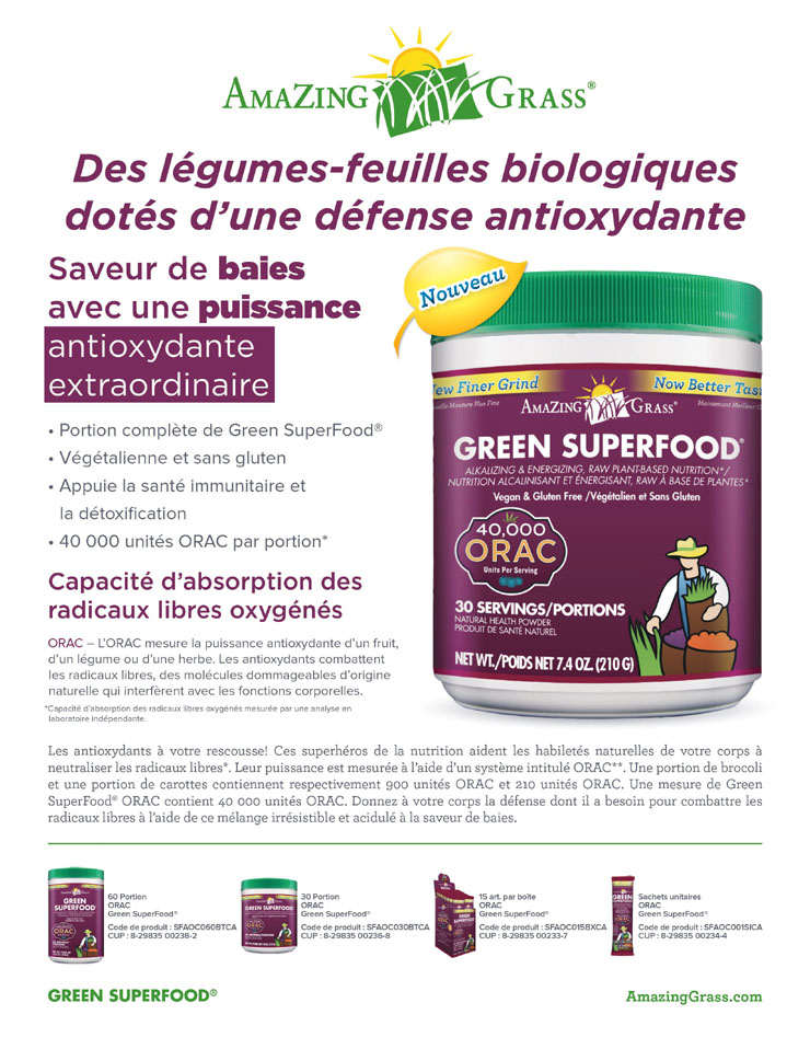 Amazing Grass - Organic Greens with an Antioxidant Defense (French)