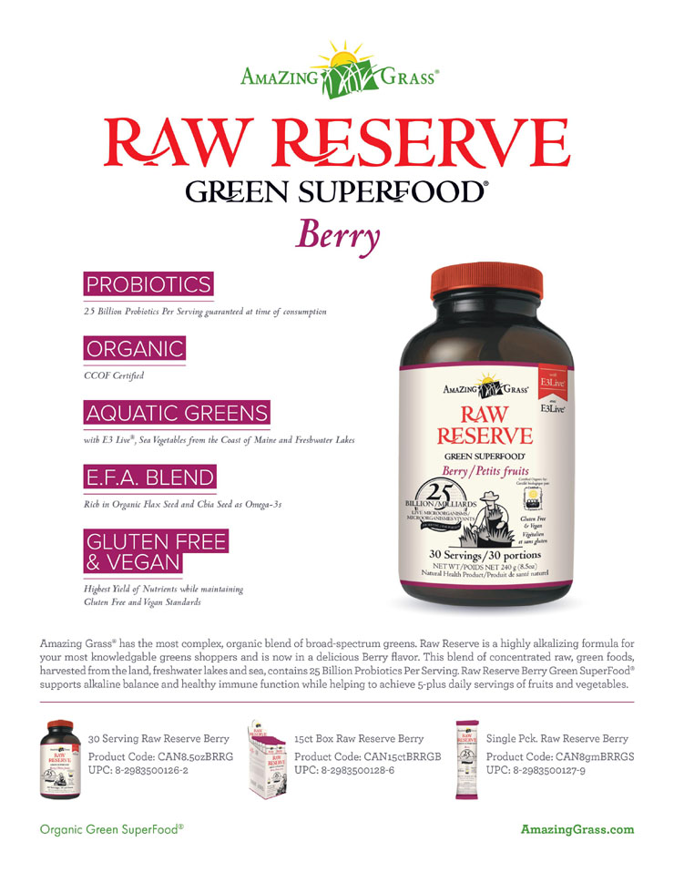 Amazing Grass - Raw Reserve Green Superfood - Berry