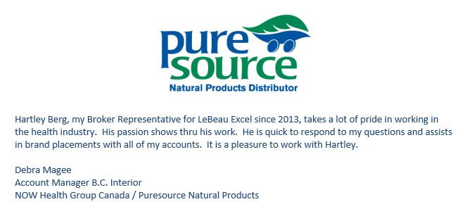 Puresource testimonial letter