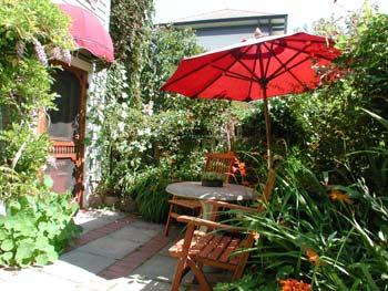 Hartley House Vacation Rental - The Garden Suite - garden patio