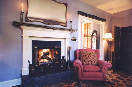 Hartley House Vacation Rental - The Grand Suite - fireplace